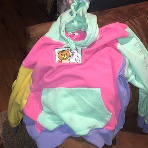 Teddy Fresh RipNDip Collab Mulitcolor block hoodie